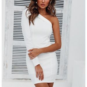 Hello Molly One Shoulder White Dress